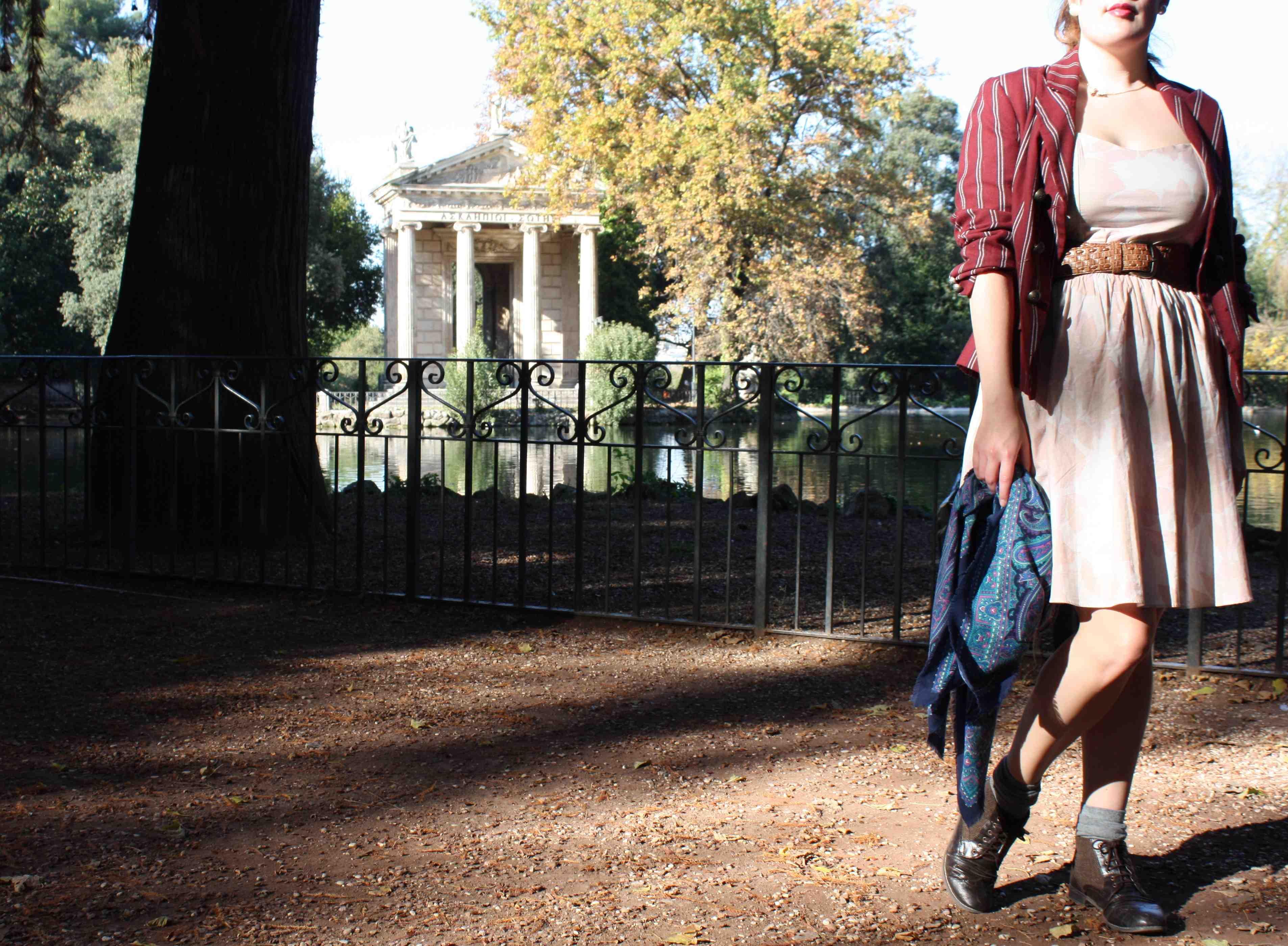 H&M dress at Villa Borghese