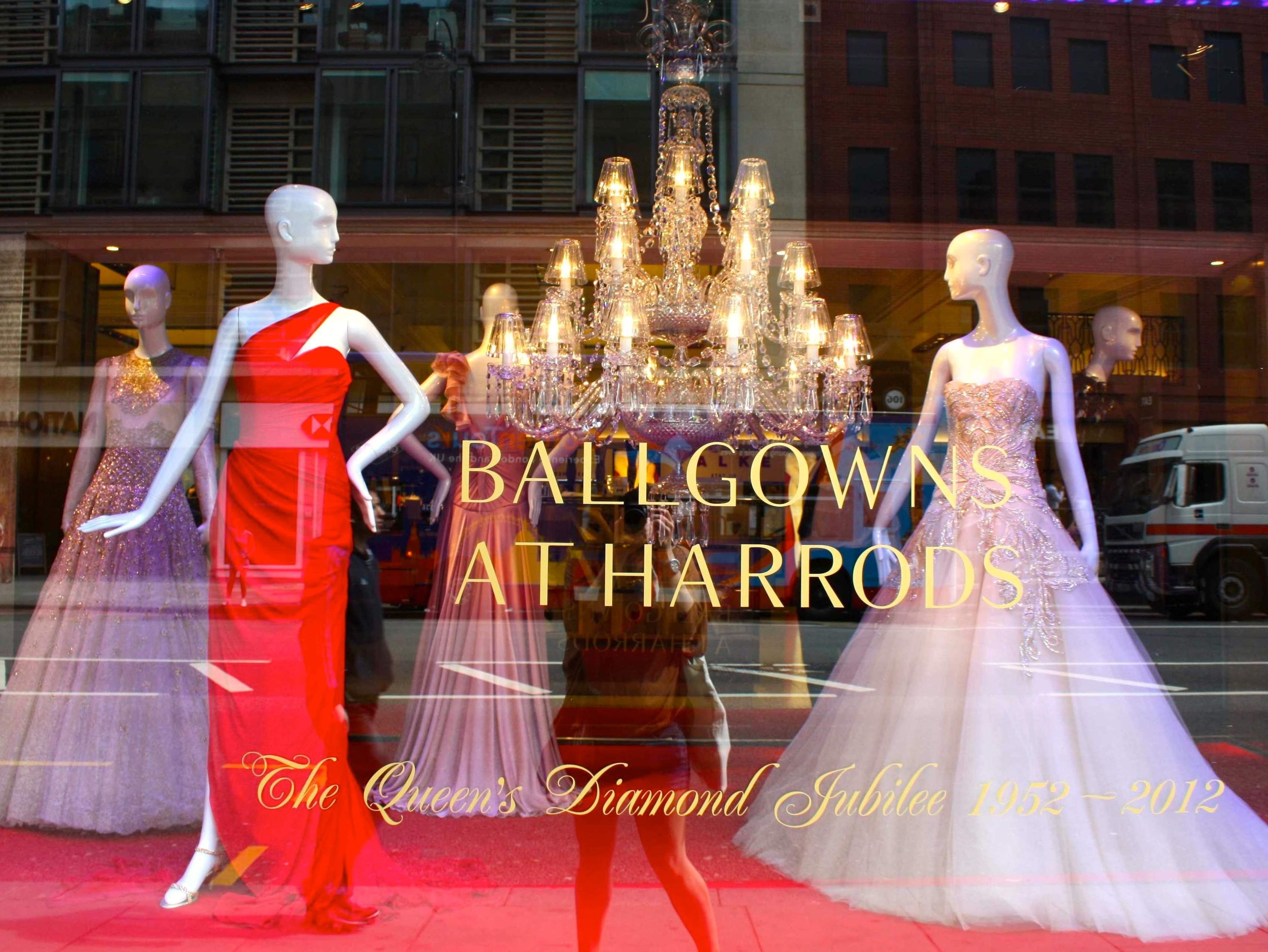 Ballgowns at Harrods reflection