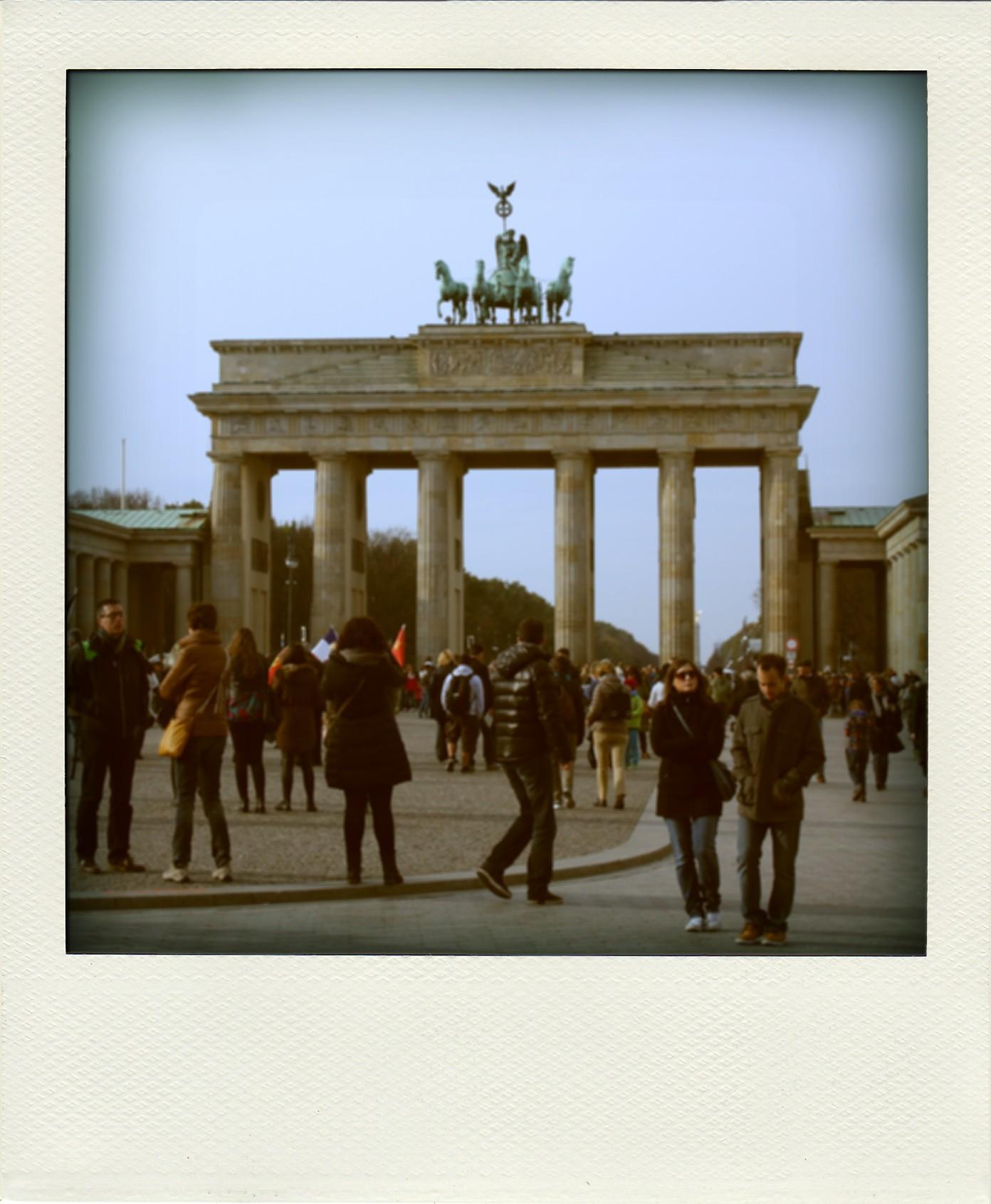 RTW Brandenburg Gate polaroid