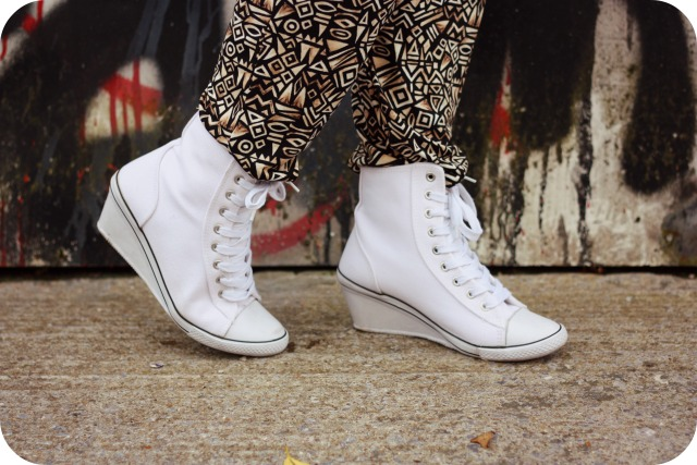 White wedge trainers New Look