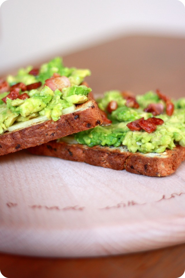 Avocado toast on Sophie Conran chopping board