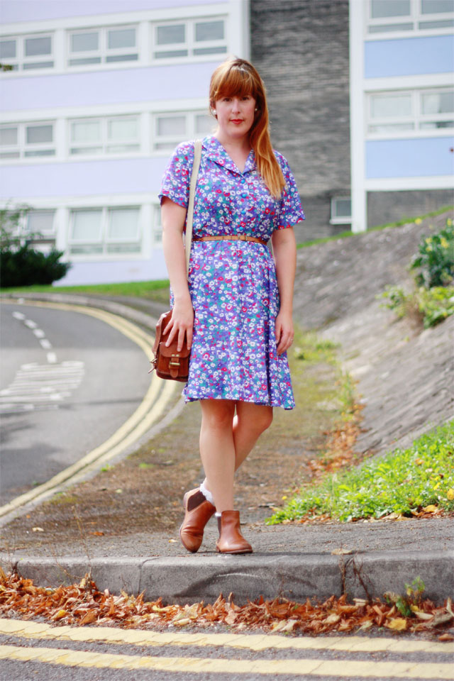 Floral charity shop dress