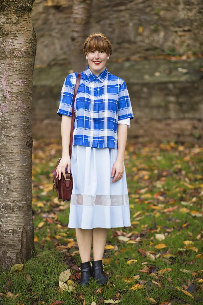 Zara shirt and Topshop skirt
