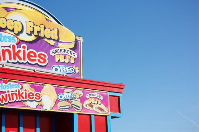 Deep fried food stand at Santa Cruz