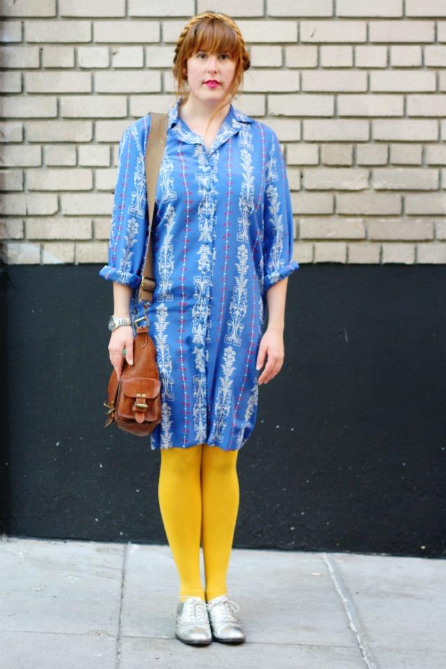 Goodwill blue dress