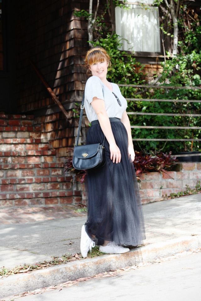 Black tulle skirt OOTD