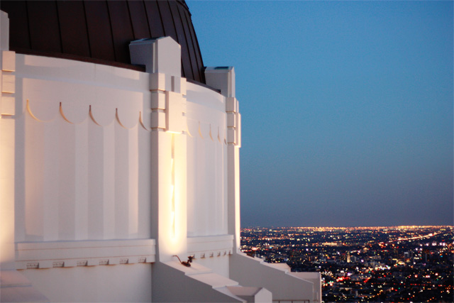 Griffith Observatory after sunset
