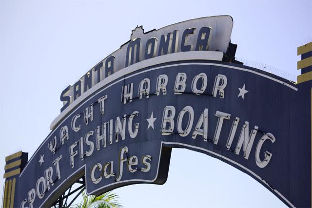 Santa Monica boardwalk sign