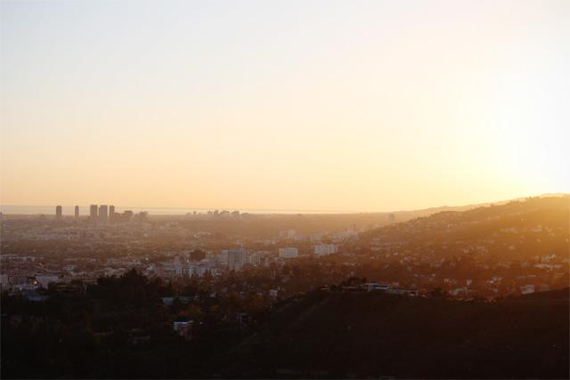 Sunset over west LA