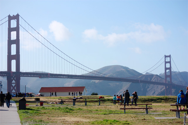 View of Golden Gate Bridge from Crissy Fields
