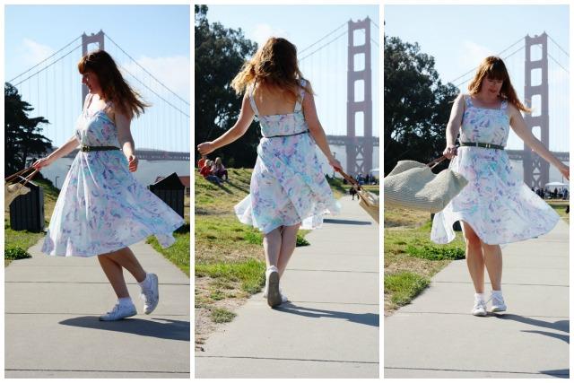 Vintage dress spinning