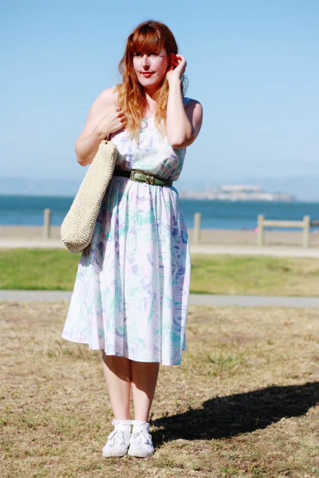 Vintage sundress OOTD