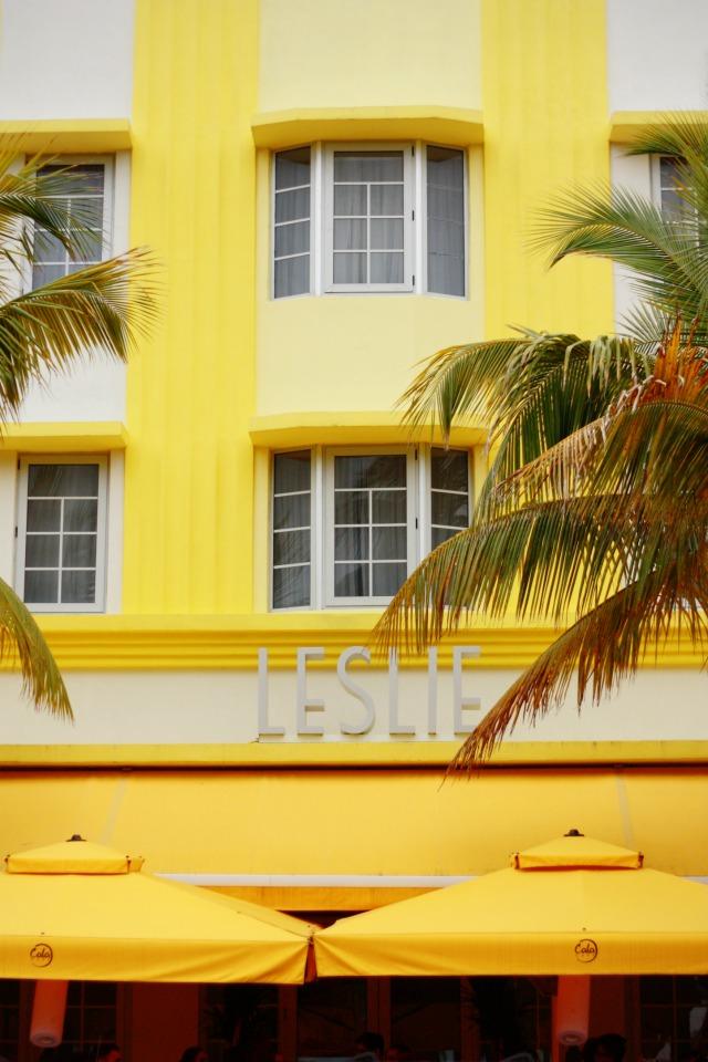 Art deco Leslie building on Ocean Drive