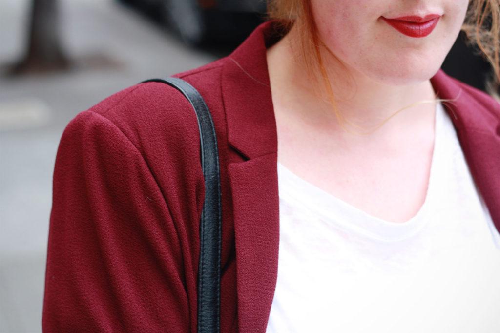 Clothes swap maroon blazer