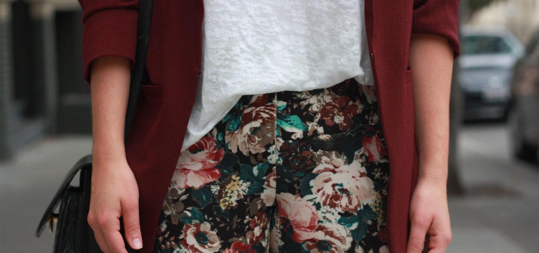 Zara flowers printed trouser