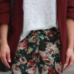 Zara flowers printed trouser