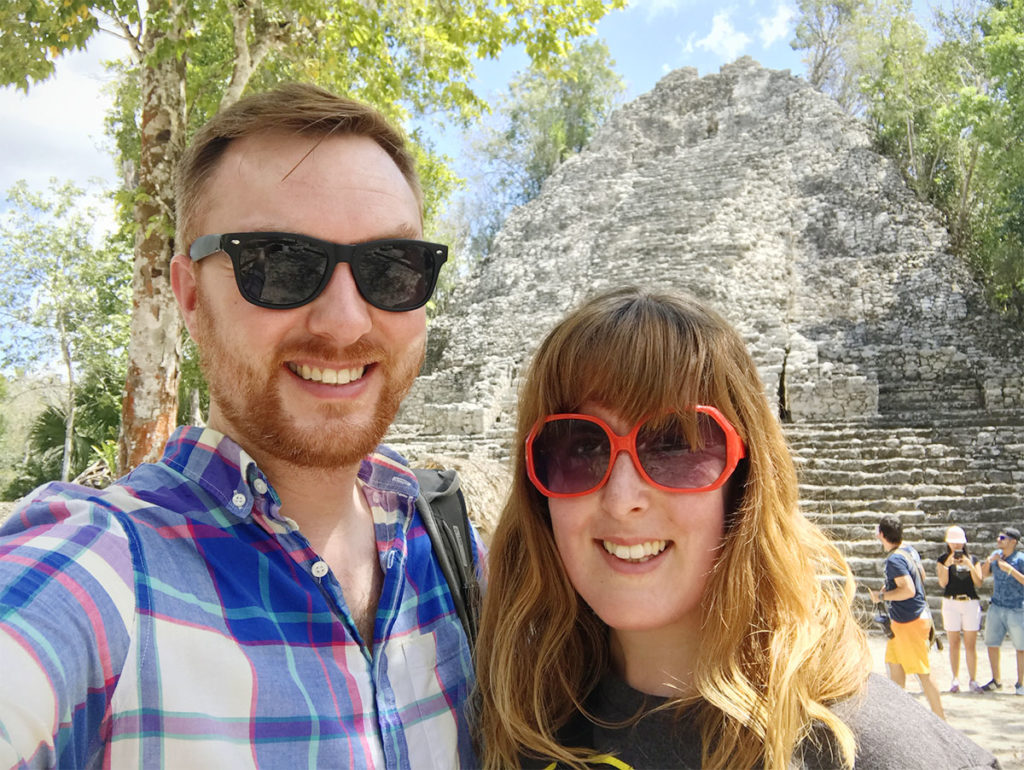 Selfie at the Coba Ruins