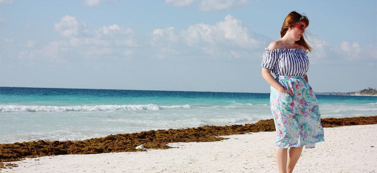 Tulum beach OOTD