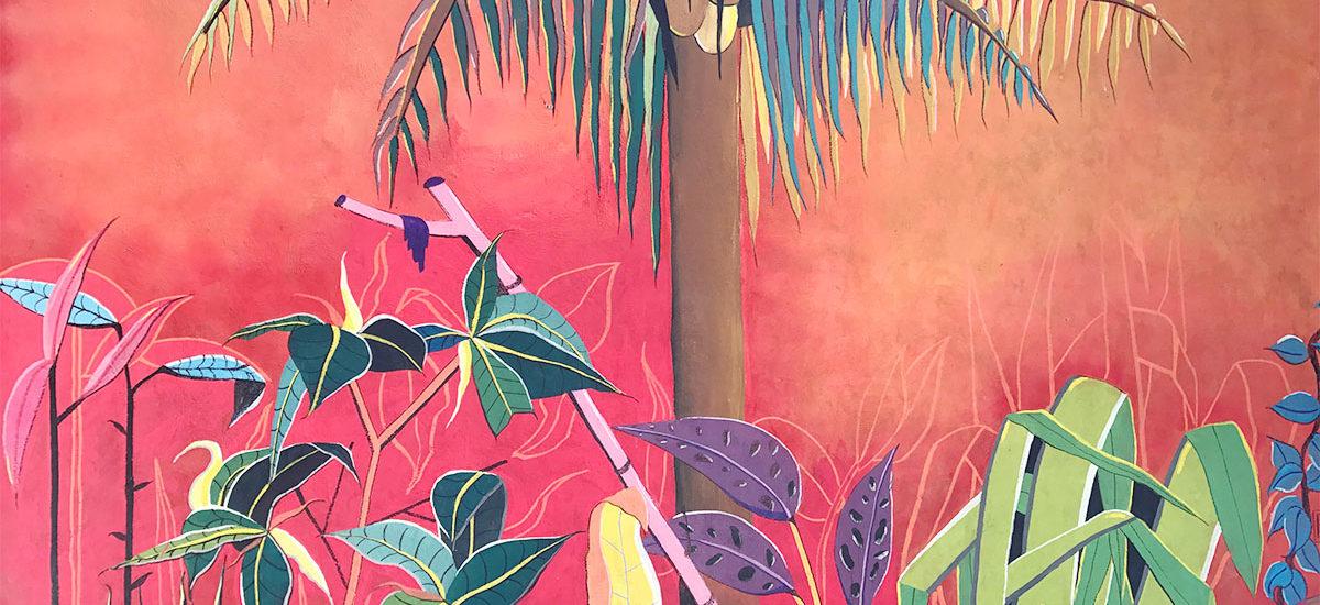 Tulum mural at Zamas