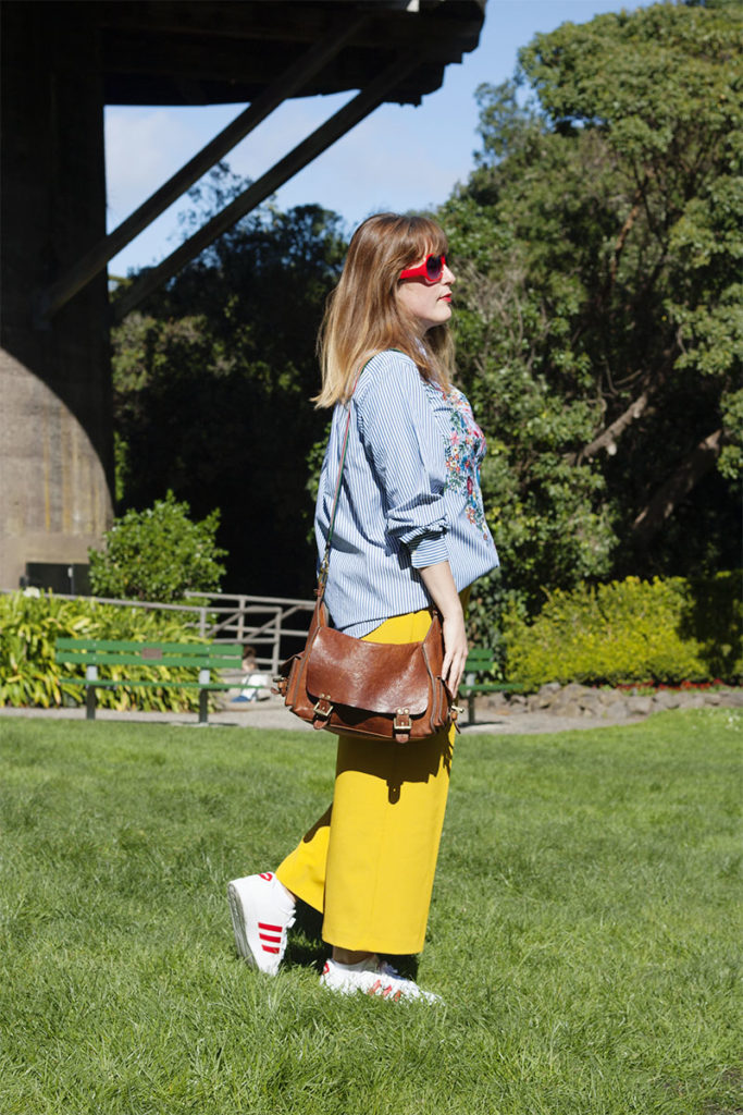 Bold trousers and Zara shirt OOTD
