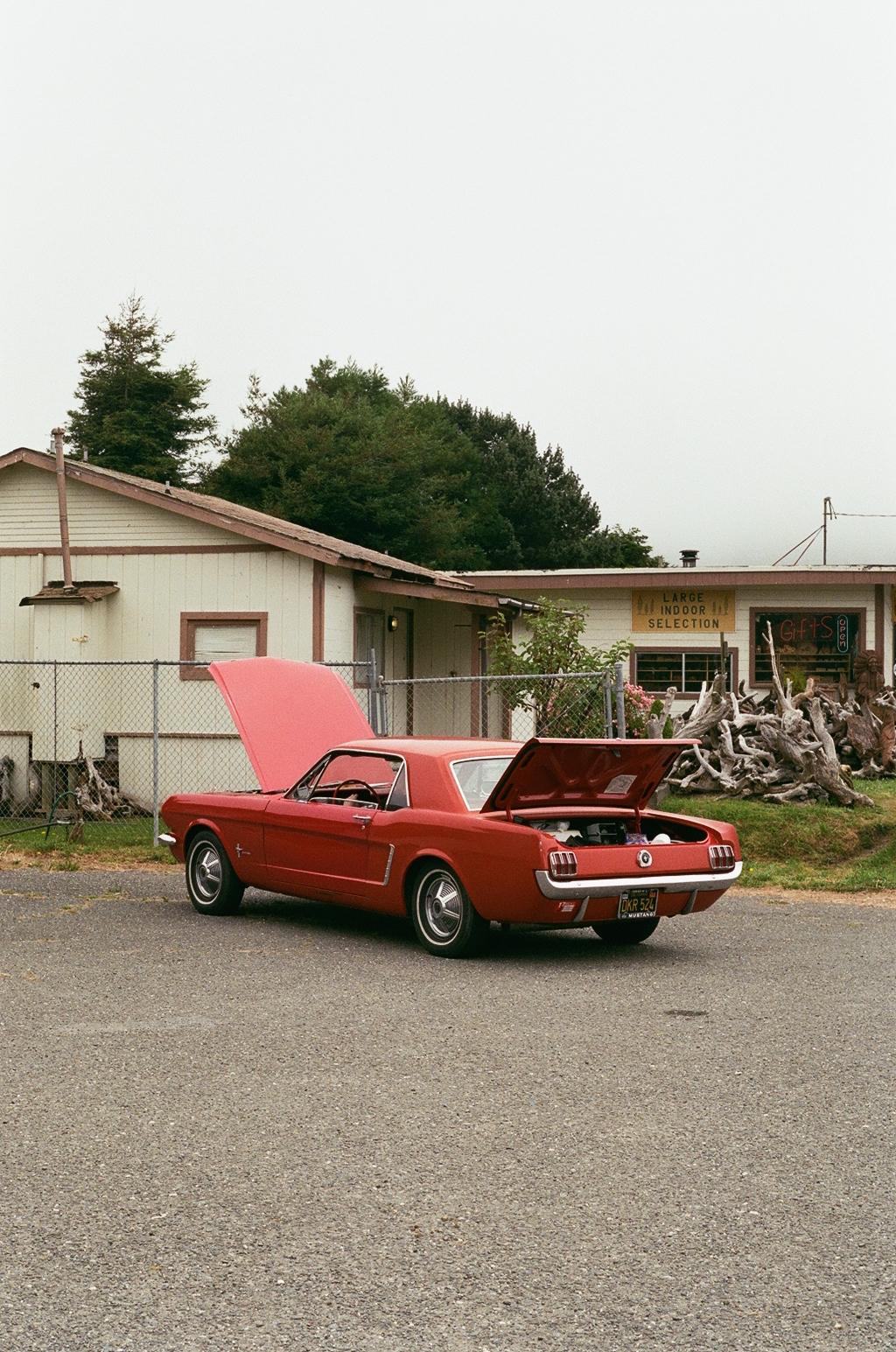 Broken down Mustang