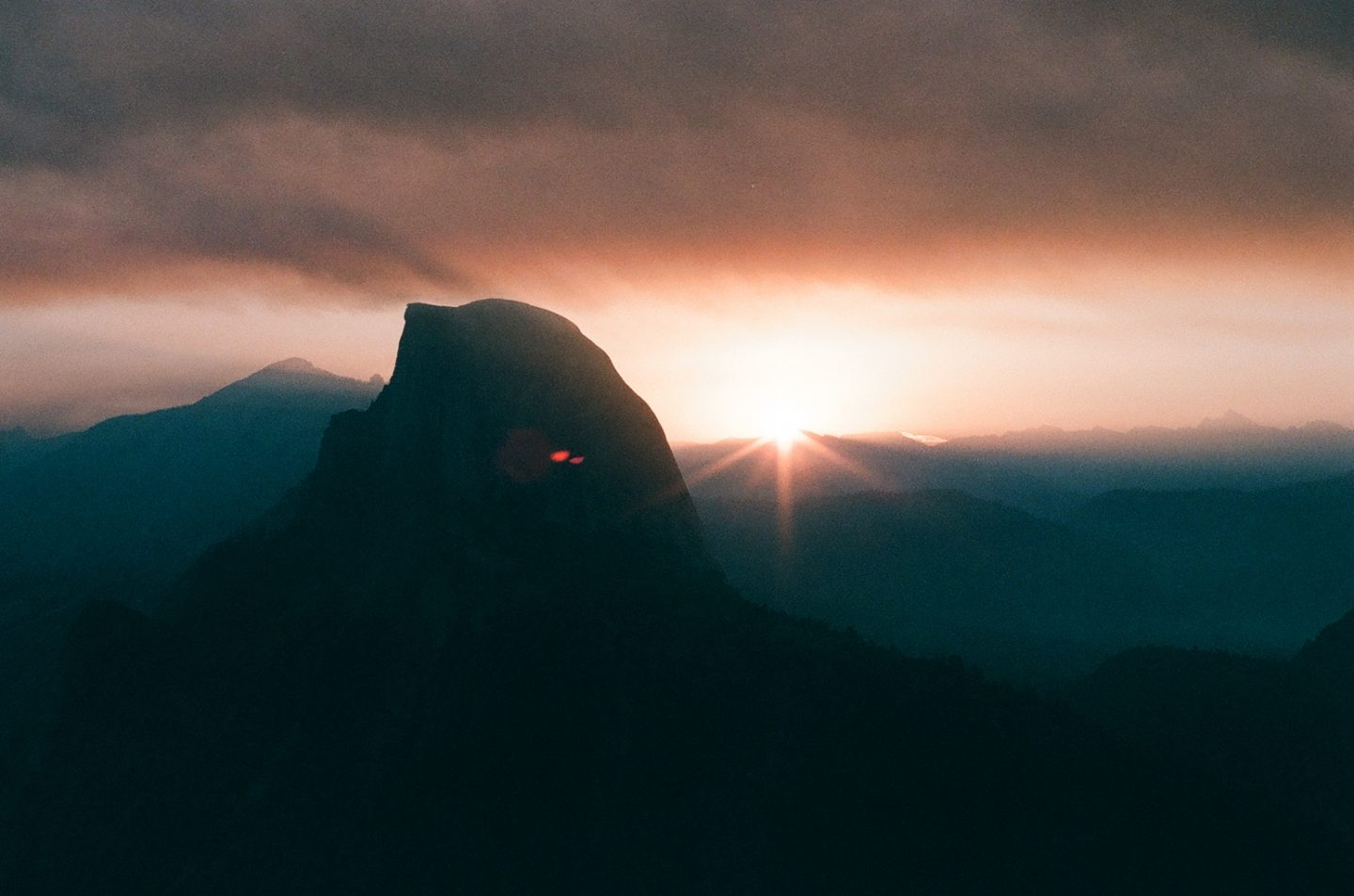 Wildfire sunrise at Yosemite