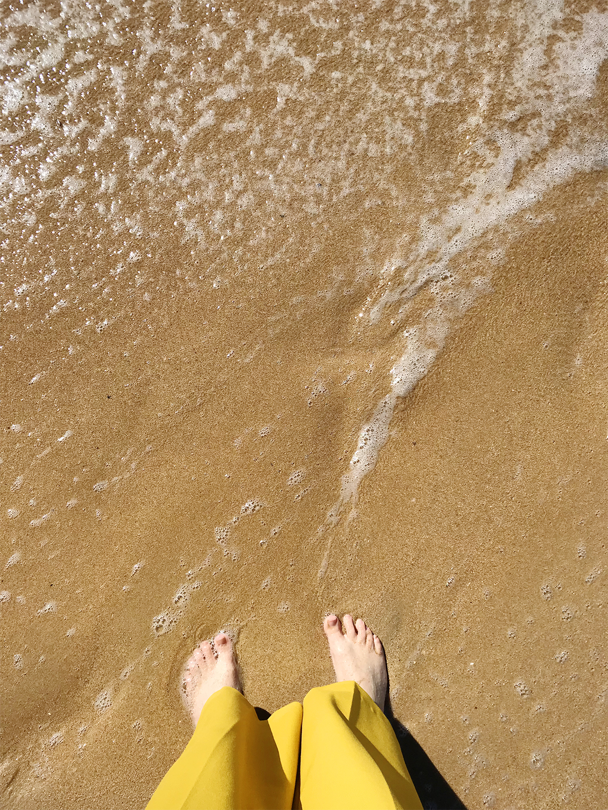 Feet on the sand at Manly