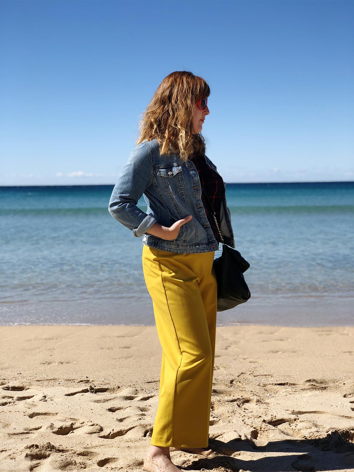Posing on Manly beach
