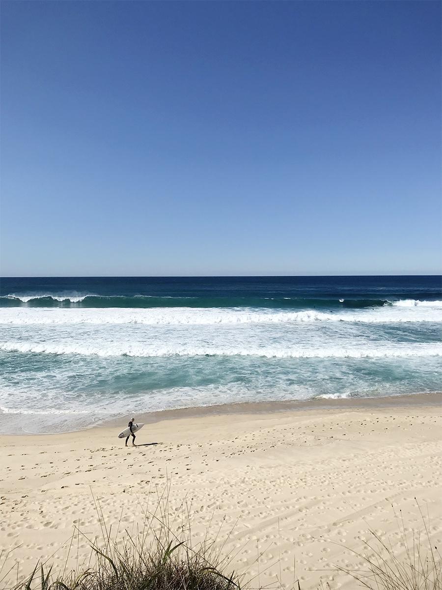 Surfer at Bronte Beach