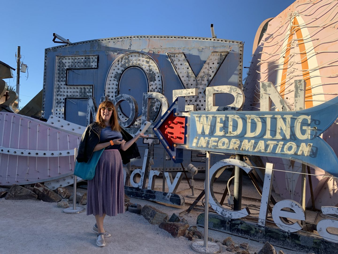 Posing at the Neon Museum Las Vegas