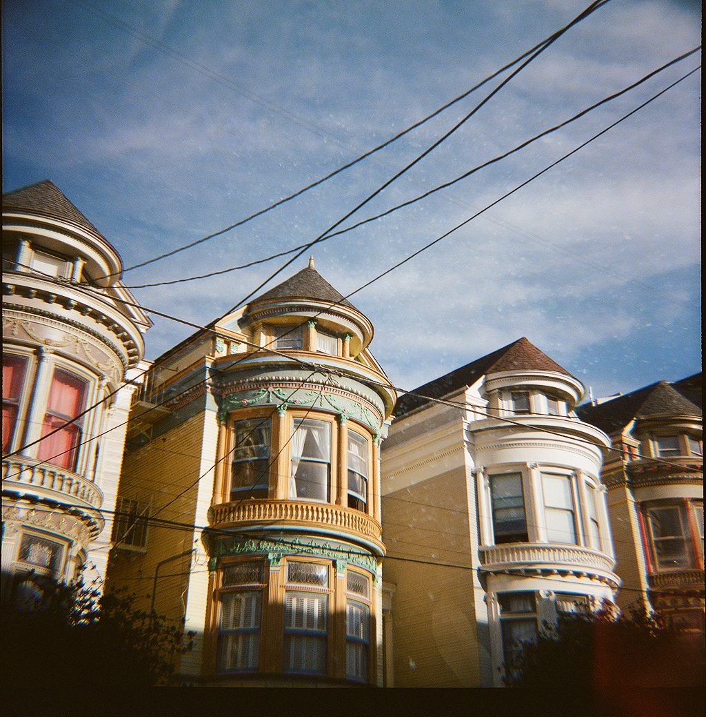 Painted Ladies double exposure