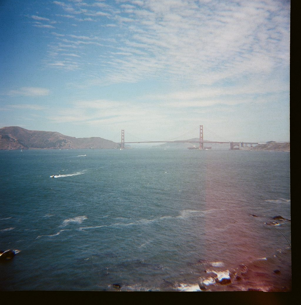 Golden Gate Bridge lomography photo