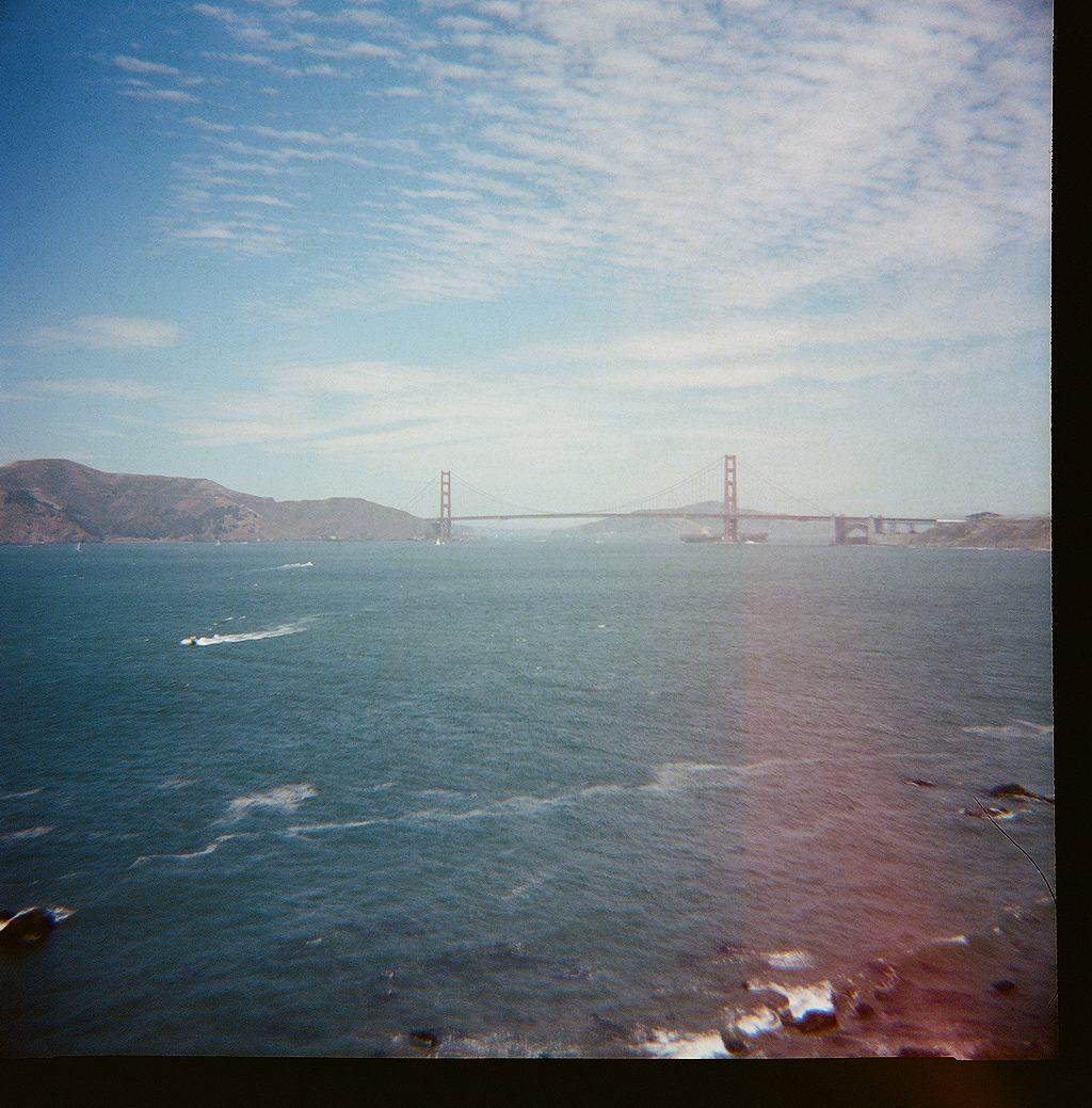 Golden Gate Bridge lomography photo