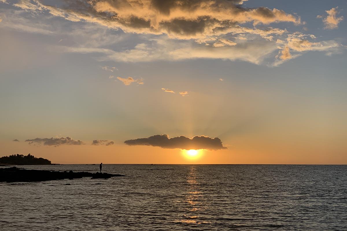 Sunset at Lava Lava Beach